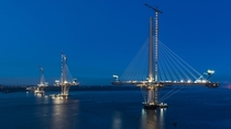 Queensferry Crossing bridge under construction Scotland
