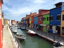 Quick shot of Burano in Venice Italy