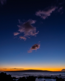 Quiet and calm sunset over West Maui  x jblakephoto