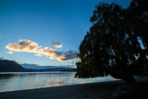 Quiet evening on the shore of Lake Wanaka New Zealand