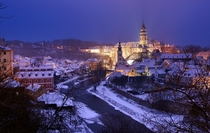 Quiet Winter in esk Krumlov Czech Republic
