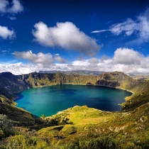 Quilotoa Lagoon Ecuador formed by a collapsed volcano  years ago  by Elan Mizrahi