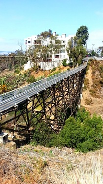 Quince St Bridge a pedestrian bridge in a San Diego neighborhood