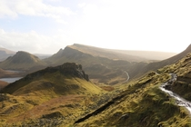 Quiraing Isle of Skye Scotland Sunshine after a quick hailstorm