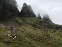 Quiraing was one of the highlights of my trip to Scotland The weather was forbidding without rain just for the duration of my hike and started pouring down right after
