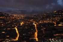 Quito Ecuador at night x