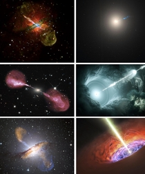 Radio Galaxies emit enormous jets hundreds of thousands of light-years across at near light speeds