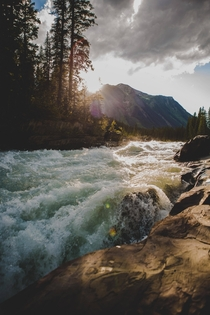 Raging waters of the Kootenay River