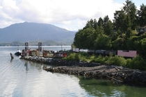 Rail barge and tug Prince Rupert BC