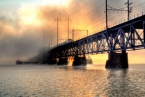 Rail bridge over the Susquehanna River Maryland