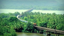 Rail Bridges on Konkan Railway in western India