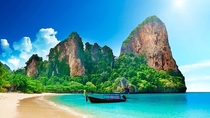 Railay Beach near Krabi Thailand One of the most beautiful places Ive been to in the world