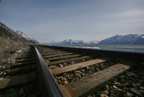 Railroad at Turnagain Arm Alaska