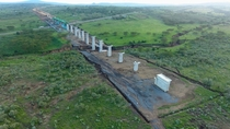 Railway Bridge Crossing Over the Suswa Rift in Kenya