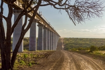 Railway Bridge over Nairobi National Park Kenya