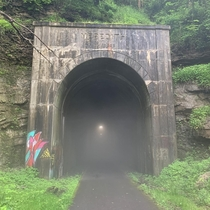 Railway tunnel repurposed for walking path Fairmont WV OC