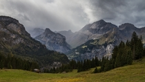 Rain is coming Kandersteg Valley Switzerland