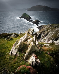 Rain is never far away in Ireland Slea Head Kerry Ireland