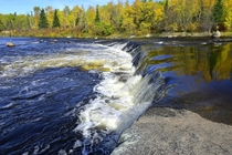 Rainbow Falls in the Whiteshell Provincial Park Manitoba Canada
