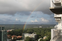 Rainbow from my Atlanta balcony