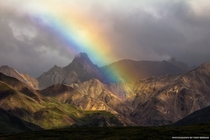 Rainbow in Denali National Park
