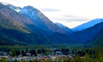 Rainbow May Morning in Skagway Alaska  -  permanent residents