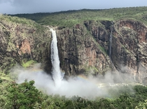 Rainbow mist at Wallaman Falls the tallest waterfall in Australia