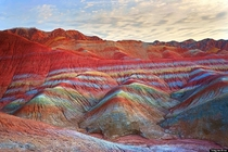 Rainbow Mountains In Chinas Danxia Landform  by GOLDEN DRAGON YIN-YANG