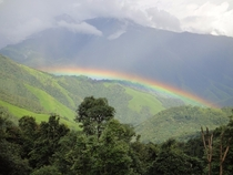 Rainbow near Indias border with China