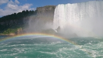 Rainbow on the Niagara Falls CanadaUS border