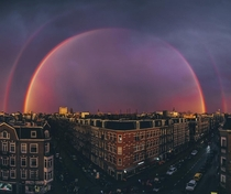 Rainbow over Amsterdam