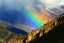 Rainbow over Himalayas