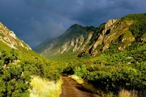 Rainbow over Little Cottonwood Canyon Utah
