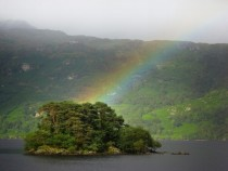 Rainbow over Loch Lomond Scotland