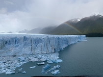 Rainbow over the Perito Moreno Glacier - Argentina