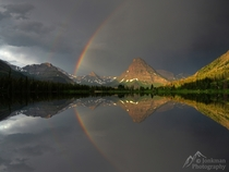 Rainbow over Two Medicine Lake in Glacier National Park Photo by Jeremy Jonkman