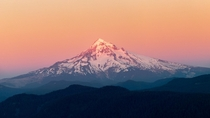 Rainbow sherbert sunet on Mt Hood OR