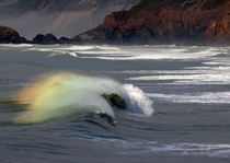 Rainbow Waves in Pacifica CA