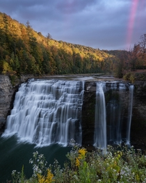 Rainbows and waterfalls - Letchworth State Park in New York