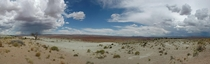 Rainstorm in the Distance Utah Desert - Panorama -