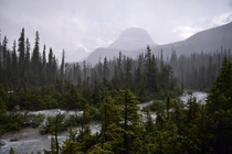 Rainstorm in Yoho National Park BC