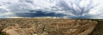 Rainstorm near Badlands NP