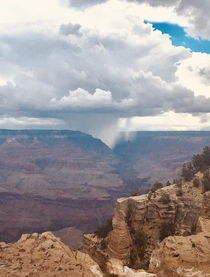 Rainstorm over Grand Canyon