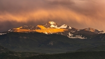 Rainstorms often produce the best sunsets - Longs Peak Colorado