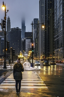 Rainy Chicago evening Nikon D with Nikkor mm