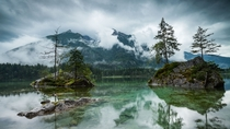 Rainy day at Hintersee Germany