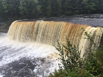 Rainy Day at Tahquamenon Falls Michigan
