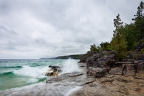Rainy day at the Halfway Log Dump Beach BPNP Ontario Canada