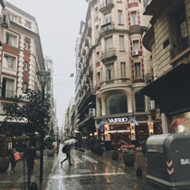 Rainy day in Buenos Aires Argentina