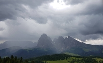 Rainy Day in Dolomites Italy